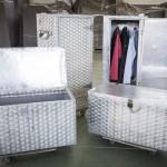 Armarios y baúles para ropa.